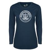 Ladies Syntrel Performance Navy Longsleeve Shirt-University Seal