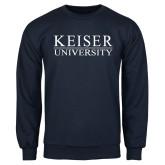 Navy Fleece Crew-University Wordmark