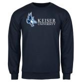 Navy Fleece Crew-Institutional Logo