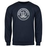 Navy Fleece Crew-University Seal