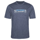 Performance Navy Heather Contender Tee-Keiser University Seahawks
