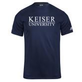 Russell Core Performance Navy Tee-University Wordmark