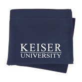 Navy Sweatshirt Blanket-University Wordmark