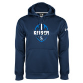 Under Armour Navy Performance Sweats Team Hoodie-Keiser Football Vertical