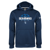 Under Armour Navy Performance Sweats Team Hoodie-Seahawks Soccer Half Ball