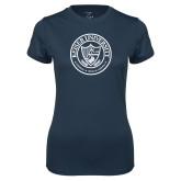 Ladies Syntrel Performance Navy Tee-University Seal