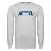 White Long Sleeve T Shirt-Keiser University Seahawks