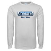 White Long Sleeve T Shirt-Football