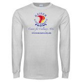 White Long Sleeve T Shirt-Center for Culinary Arts