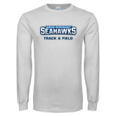 White Long Sleeve T Shirt-Track and Field