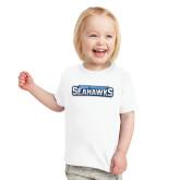 Toddler White T Shirt-Keiser University Seahawks