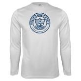 Syntrel Performance White Longsleeve Shirt-University Seal