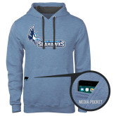 Contemporary Sofspun Carolina Heather Hoodie-Primary Logo
