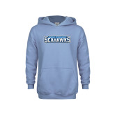 Youth Light Blue Fleece Hoodie-Keiser University Seahawks