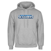 Grey Fleece Hoodie-Keiser University Seahawks