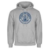 Grey Fleece Hoodie-University Seal