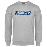 Grey Fleece Crew-Keiser University Seahawks