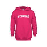 Youth Raspberry Fleece Hoodie-Keiser University Seahawks