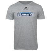 Adidas Sport Grey Logo T Shirt-Keiser University Seahawks