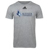 Adidas Sport Grey Logo T Shirt-Institutional Logo