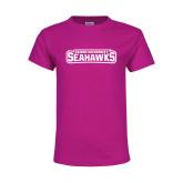 Youth Cyber Pink T Shirt-Keiser University Seahawks