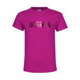 Youth Cyber Pink T Shirt-Keiser University Seahawks Foil
