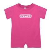 Bubble Gum Pink Infant Romper-Keiser University Seahawks