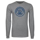 Grey Long Sleeve T Shirt-University Seal