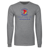 Grey Long Sleeve T Shirt-Center for Culinary Arts