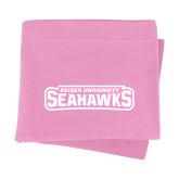 Pink Sweatshirt Blanket-Keiser University Seahawks