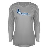 Ladies Syntrel Performance Platinum Longsleeve Shirt-Primary Logo