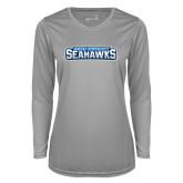 Ladies Syntrel Performance Platinum Longsleeve Shirt-Keiser University Seahawks