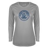 Ladies Syntrel Performance Platinum Longsleeve Shirt-University Seal