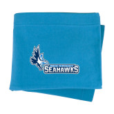 Light Blue Sweatshirt Blanket-Primary Logo