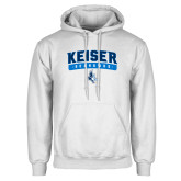 White Fleece Hoodie-Arched Keiser Seahawks