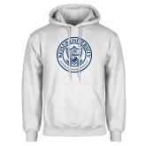 White Fleece Hoodie-University Seal