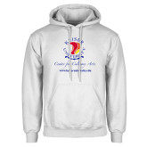 White Fleece Hoodie-Center for Culinary Arts