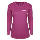 Ladies Syntrel Performance Raspberry Longsleeve Shirt-Keiser University Seahawks