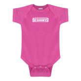 Fuchsia Infant Onesie-Keiser University Seahawks