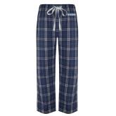 Navy/White Flannel Pajama Pant-Keiser University Seahawks