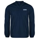 V Neck Navy Raglan Windshirt-Keiser University Seahawks
