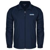 Full Zip Navy Wind Jacket-Keiser University Seahawks