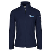 Columbia Ladies Full Zip Navy Fleece Jacket-Primary Logo