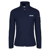 Columbia Ladies Full Zip Navy Fleece Jacket-Keiser University Seahawks