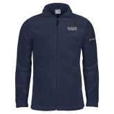 Columbia Full Zip Navy Fleece Jacket-University Wordmark