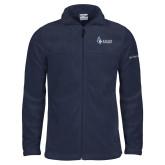 Columbia Full Zip Navy Fleece Jacket-Institutional Logo