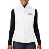 Columbia Lake 22 Ladies White Vest-University Wordmark
