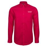 Red House Red Long Sleeve Shirt-University Wordmark