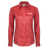Ladies Red House Red Long Sleeve Shirt-Keiser University Seahawks