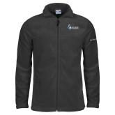 Columbia Full Zip Charcoal Fleece Jacket-Institutional Logo